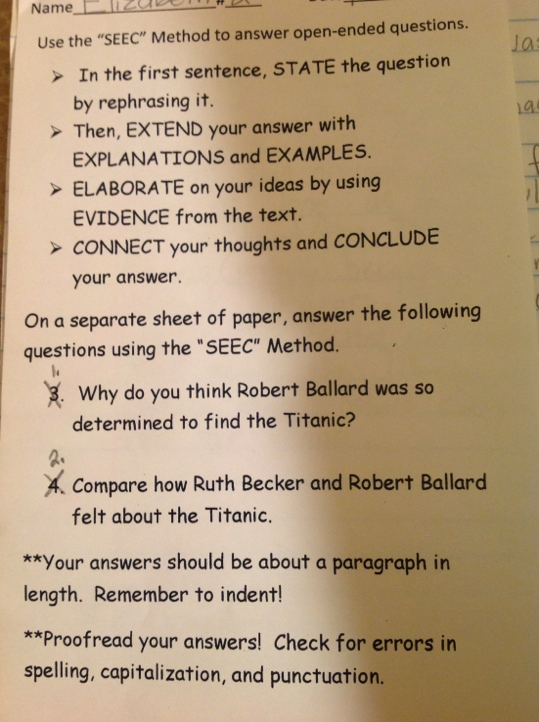 How to approach a writing prompt on a standardized test?